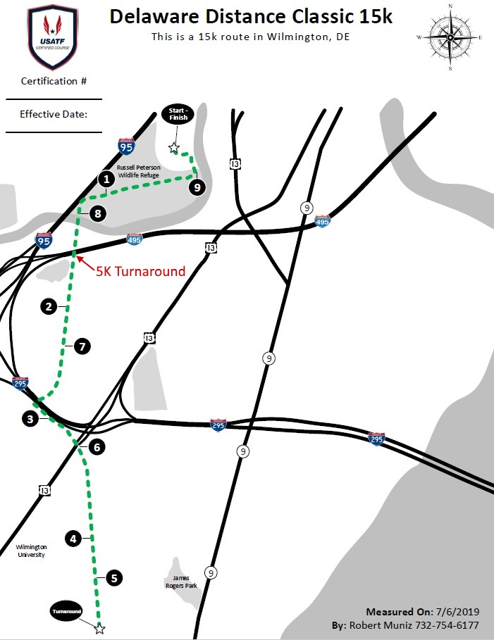DDC 15k course map